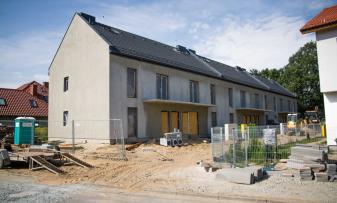 Zdjęcie z realizacji budynku w Wilczycach przy ul. Borowa