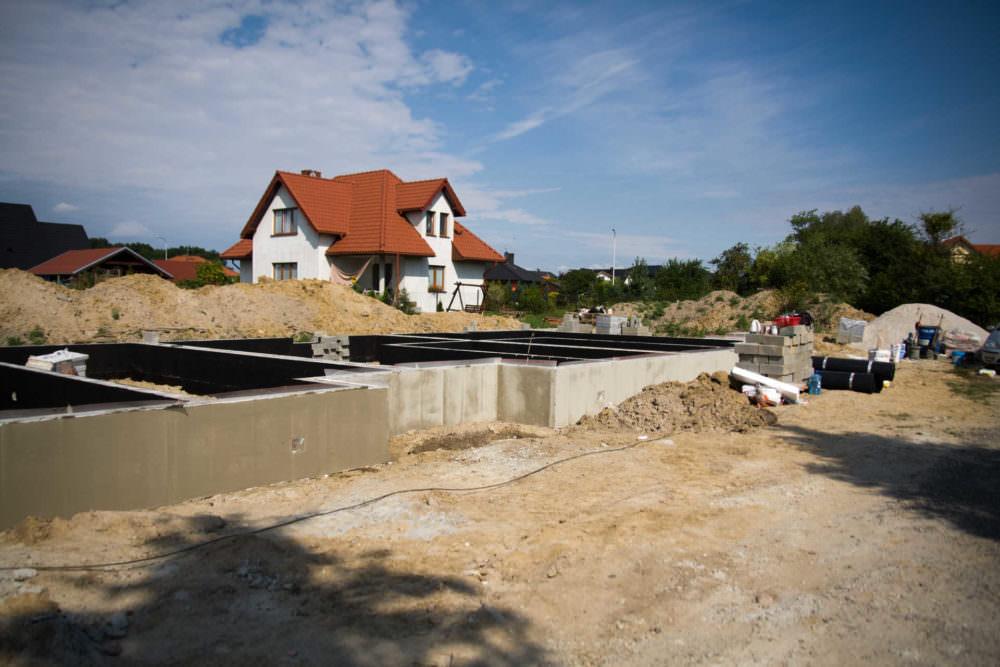 początki inwestycji na podstawie naszego projektu przy ul Złotej w Wilczycach